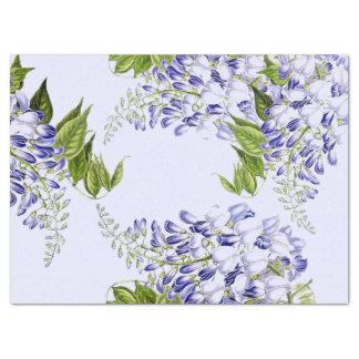 Papier de soie de soie floral de fleur bleue