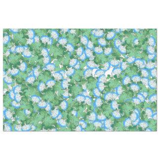 Papier de soie de soie floral de matin de fleur
