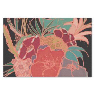 Papier de soie de soie floral de partie vintage de