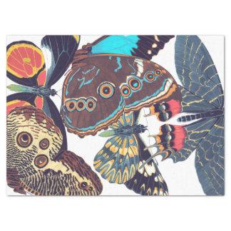 Papier de soie de soie français de papillons de