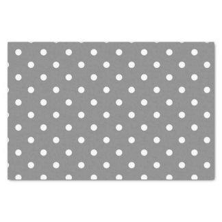 Papier de soie de soie gris de point de polka