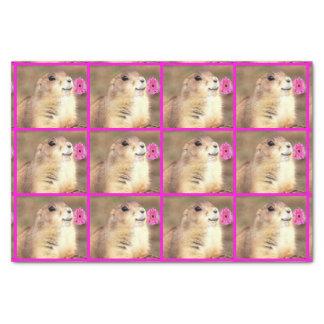 Papier de soie de soie heureux de chien de Praire