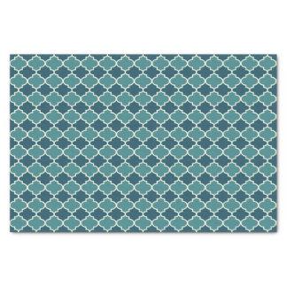 Papier de soie de soie marocain bleu à deux tons