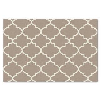 Papier de soie de soie marocain bronzage de motif