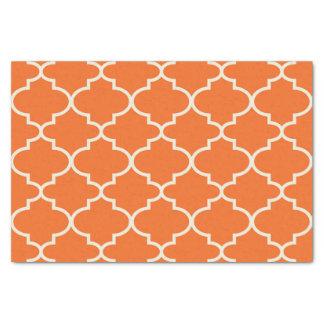 Papier de soie de soie marocain orange de motif de