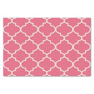 Papier de soie de soie marocain rose de motif de