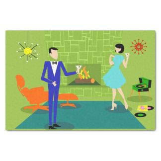 Papier de soie de soie moderne de couples de la
