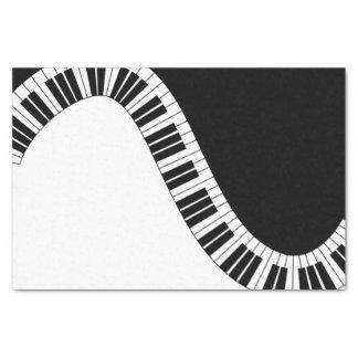 Papier de soie de soie musical de piano