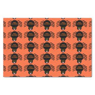 Papier de soie de soie noir d'araignée de
