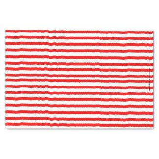 Papier de soie de soie rayé rouge et blanc