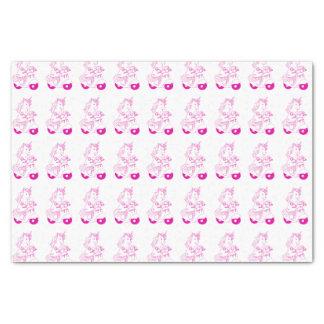 Papier de soie de soie rose de licorne