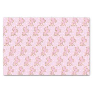 Papier de soie de soie rose de licornes