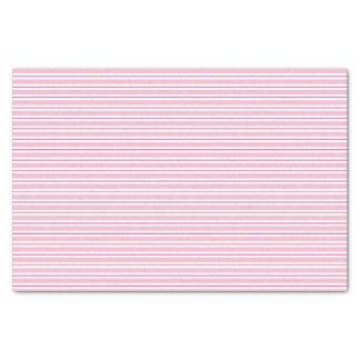 Papier de soie de soie rose de motif rayé