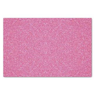 Papier de soie de soie rose de scintillement