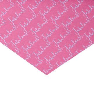 Papier de soie de soie rose fabuleux de partie de