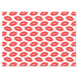 Papier de soie de soie rouge de baiser de rouge à