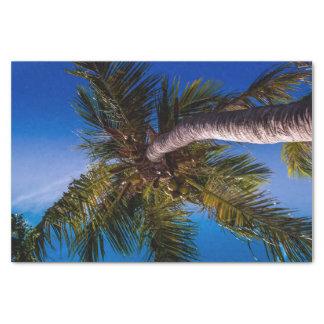 Papier de soie de soie tropical vibrant de palmier