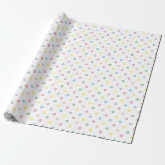 Papier d'emballage 2 bébé en pastel mignon de pois papier cadeau noël