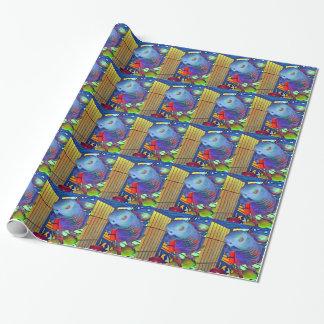 Papier d'emballage africain du gris #2 papier cadeau