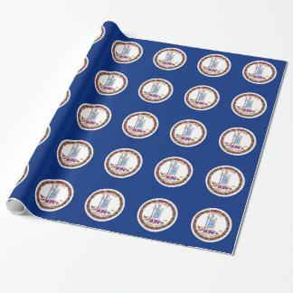 Papier d'emballage avec le drapeau de la Virginie Papier Cadeau