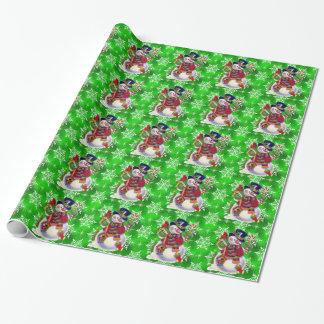 Papier d'emballage brillant de vacances de papier cadeau