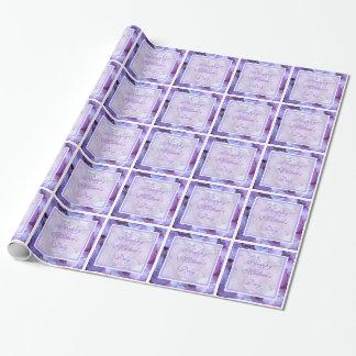 Papier d'emballage cadeau d'hortensia du jour de papier cadeau