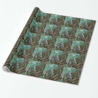 Papier d'emballage carrelé par héron bleu papier cadeau