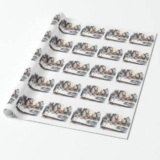 Papier d'emballage carrelé par pastels fous de thé papier cadeau