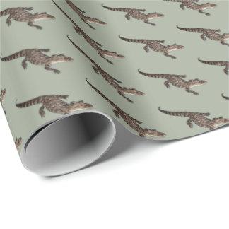 Papier d'emballage d'alligator papier cadeau