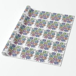 Papier d'emballage d'alphabet papier cadeau