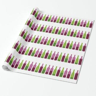 Papier d'emballage d'amateurs de vin papier cadeau