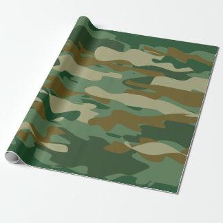 Papier d'emballage d'anniversaire de camouflage de papier cadeau noël