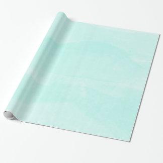 Papier d'emballage d'aquarelle en pastel turquoise papiers cadeaux noël