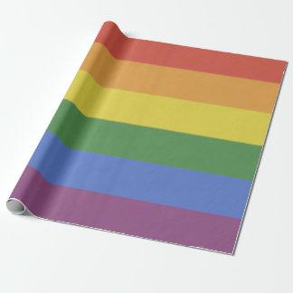 Papier d'emballage d'arc-en-ciel papier cadeau