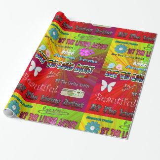 Papier d'emballage d'artiste vivant de la TA Papier Cadeau