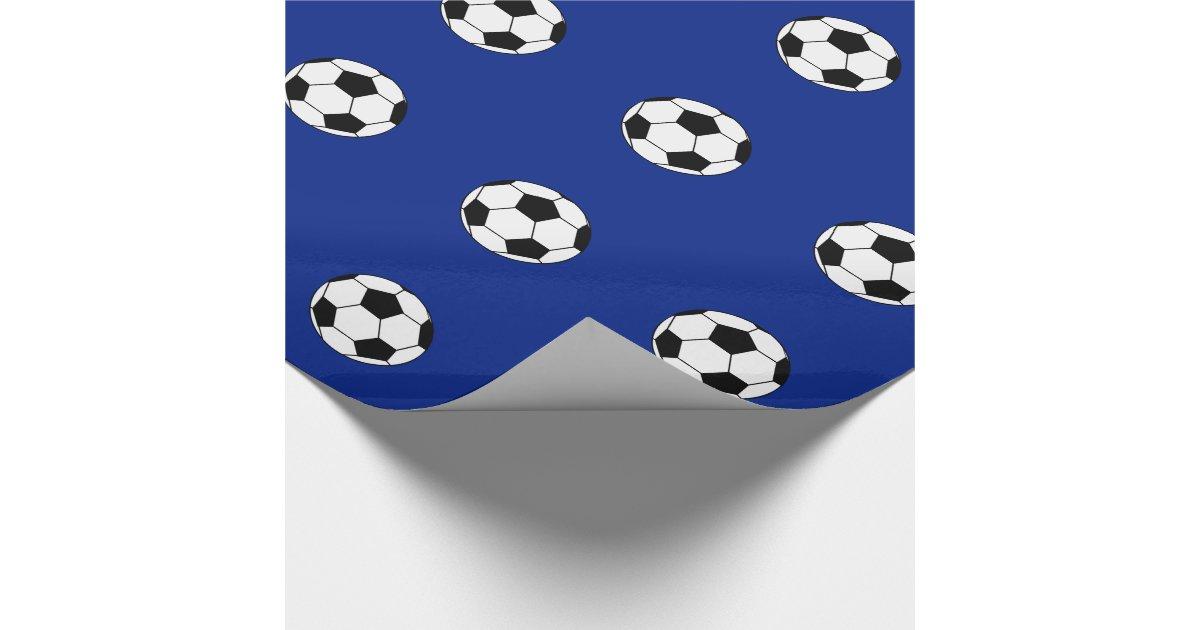 Papier d 39 emballage de ballon de football papier cadeau no l zazzle - Papier cadeau personnalisable ...