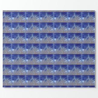 Papier d'emballage de branches cristallines (mat) papiers cadeaux noël