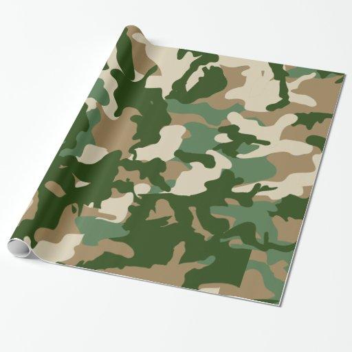 Papier d 39 emballage de camouflage papiers cadeaux no l zazzle - Papier cadeau personnalise ...