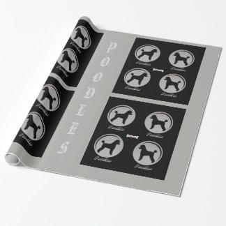 Papier d'emballage de caniche papier cadeau noël