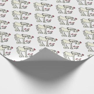 Papier d'emballage de cheval de Valentine Papiers Cadeaux Noël