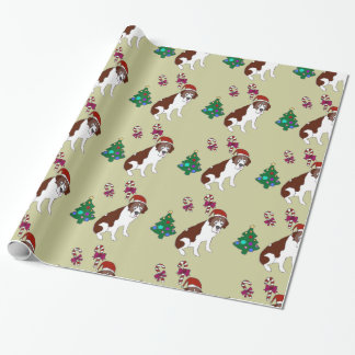Papier d'emballage de chien de Custiom St Bernard Papiers Cadeaux Noël