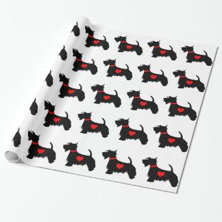Papier d'emballage de chien de Scottie Papier Cadeau