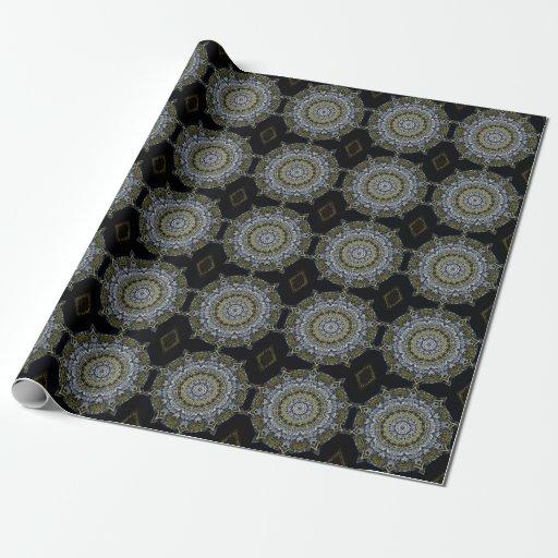 Papier d 39 emballage de conception de flocon de papier - Ou acheter du papier cadeau ...