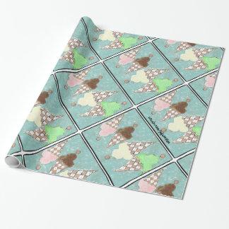 Papier d'emballage de crème glacée de ciel de papier cadeau