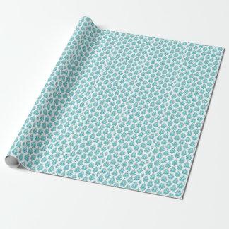 Papier d'emballage de damassé turquoise pour le papier cadeau