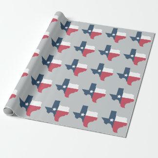 Papier d'emballage de drapeau d'état du Texas Papier Cadeau Noël