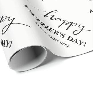 Papier d'emballage de fête des pères heureuse papier cadeau
