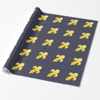 Papier d'emballage de Fleur de Lys Papier Cadeau