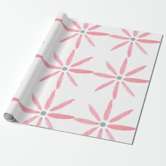 Papier d'emballage de fleur pour aquarelle papier cadeau