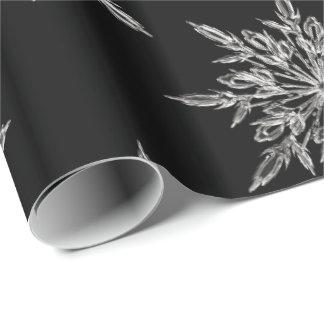 Papier d'emballage de flocon de neige papier cadeau